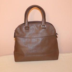 Furla Genuine Leather beige tote bag